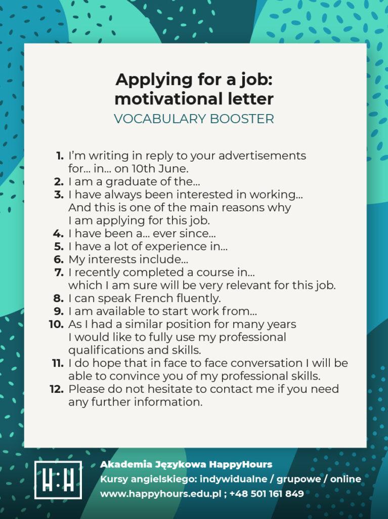 rozmowa o pracę po angielsku zwroty