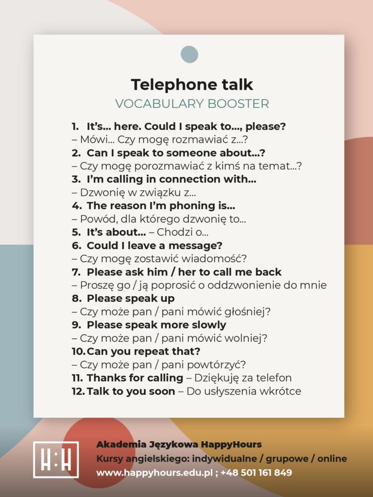 Rozmowa telefoniczna po angielsku